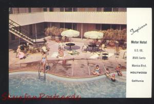 HOLLYWOOD CALIFORNIA ROUTE 66 MOTEL SWIMMING POOL