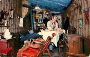 Virginia City MT~Shave and a Haircut Was Figures~Barber Shop~1960 Postcard