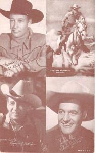 Bill Elliot, Long Ranger, Raymond Hutton, Charles Starrett Western Actor Muto...
