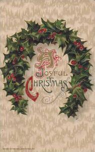 A Joyful Christmas, Wreath of holly, PU-1912