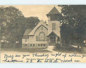 Pre-1907 CHURCH SCENE Hopedale - Near Milford Massachusetts MA G4471