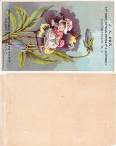 Victorian Trade Card Approx size inches = 3.5 x 5.25 Pre 1900