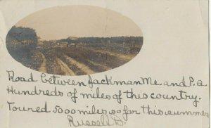 RP: JACKMAN , Maine , 1908 ; Rural Road