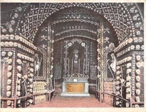 Court Size Card: Malte Malta Valetta, The Chapel of Bones, Skulls