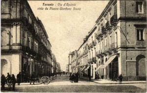 CPA Taranto Via d'Aquinio vista da Pizza Giordano Bruno ITALY (801579)