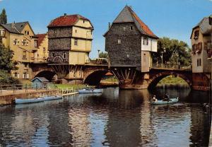 Bad Kreuznach Brueckenhaeuser Bridge Houses River Boats