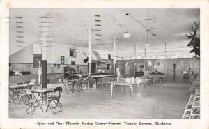 Lawton Oklahoma Masonic Temple Service Center Interior Vintage Postcard K20650