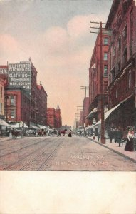 LPS50 Kansas City Missouri Walnut Street Town View Private Mailing Postcard