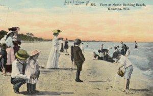 KENOSHA , Wisconsin , 1912; View at North Bathing Beach