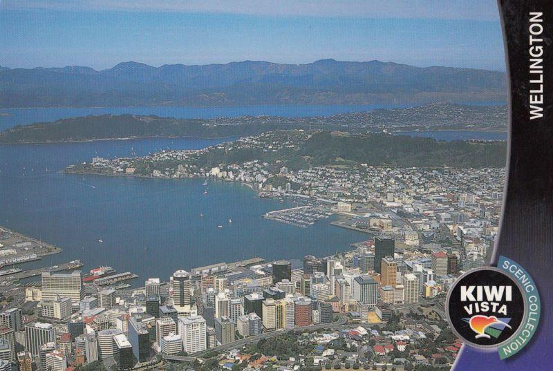 Wellington New Zealand Stunning Aerial Postcard