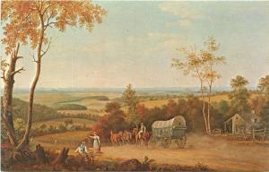 Conestoga Wagon Oil on Canvas Thomas Birch Shelburne Museum Vermont VT Postcard