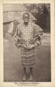 french equatorial africa, Native Woman Lip Plate, Plateaux, Lippenneger 1920s (1