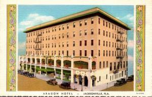 Florida Jacksonville Aragon Hotel Curteich