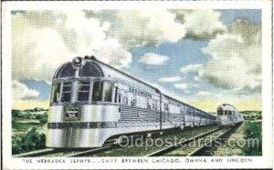 The Nebraska Zephyr Train Locomotive  Steam Engine Unused