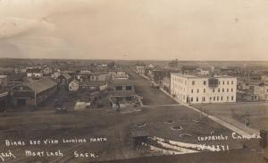 RP: MORTLACH , Saskatchewan, Canada; 00-10s ; Bird's Eye View Looking North