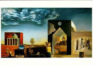 Suburbs of a Paranoiac-Critical Town by Salvador Dali Art Postcard