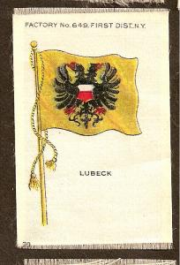 TURN OF THE CENTURY CIGARETTE SILK -GERMANY  - LUBECK FLAG