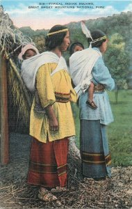 American Native typical indian squaws postcard