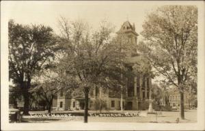 Eldorado KS Court House Real Photo Postcard