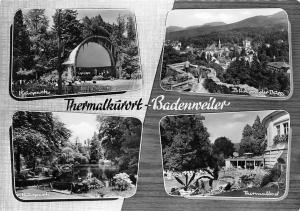 Thermalkuerort Badenweiler, Kurpark Thermalbad Blick von der Burg