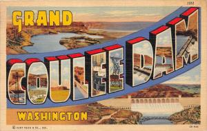 LARGE LETTER Greetings from Grand Coulee Dam, Washington