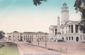 Memorial Hall & Government Secretary Office Singapore Old Postcard