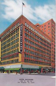 Exterior,  Hotel Hayward,  Los Angeles,  California,  40-60s