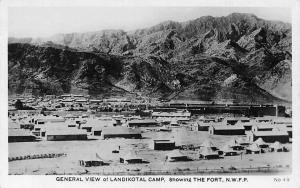 Pakistan General View of Landikotal Camp, showint The Fort, N.W.F.P.