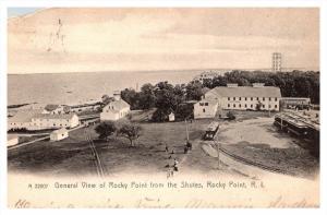 Rhode island Warwick ,  Aerial View of Rocky Point , Trains and Turnaround