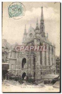 Old Postcard Paris La Sainte Chapelle