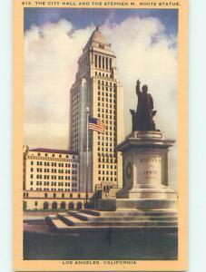 Unused Linen CITY HALL SCENE Los Angeles California CA hs5831-12