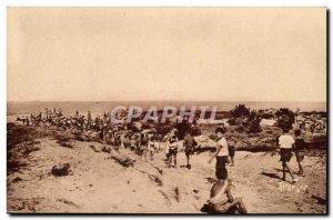 Ile d & # 39oleron Postcard Old House pleased L & # 39arrivee to the beach (c...