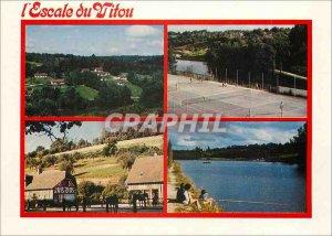 Modern Postcard L'Escale du Vitou Entertainment Vimoutiers Hotel Tennis Center