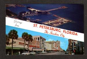FL Greetings from ST PETERSBURG FLORIDA Woolworth Woolworths Store Postcard