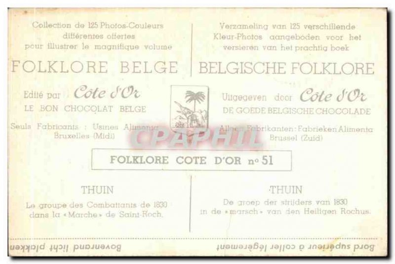 Image Folklore Belge Collection Cote d & # 39or Thuin The group of 1830 fight...