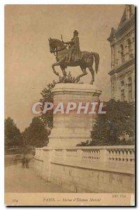 Old Postcard Paris Statue of Etienne Marcel