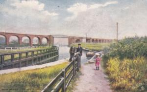 NORTHWHICH , Cheshire , England , 1908 ; River Weaver from Hunts Lock
