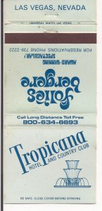 Matchbook Cover ! Tropicana, Folies Bergere, Las Vegas !