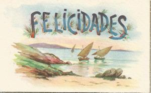 Postal 52621: Dibujo. Serie Felicidades