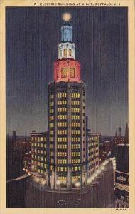 New York Buffalo Electric Building At Night