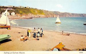 Vintage Postcard CORNWALL Sailing at Gorran Haven H. Barton #A25A