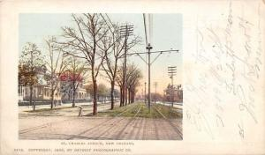New Orleans LA~Stately Homes~St Charles Avenue~Trolley Tracks~Detroit Pub~1900