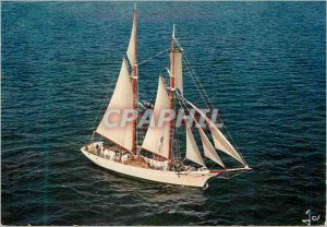 Postcard Modern Brittany in Any Colors Schooner Sail Boat on Ocean