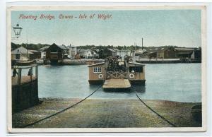 Floating Bridge Ferry Cowes Isle of Wight United Kingdom postcard