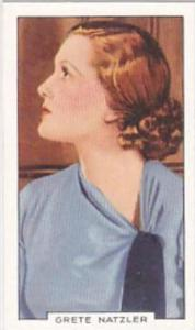 Gallaher Cigarette Card Portraits Famous Stars No 3 Grete Natzler