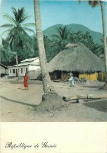 Site du Kakoulima Guinea Bondekori village 1968 ethnic native beauty stamp