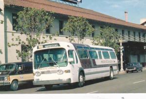 Mexicoach #25 GM TDH 5302 Bus In Front Of Santa Fe Depot San Diego California...