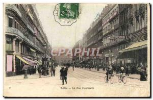 Old Postcard Lille La Rue Faidherhe