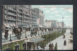 Sussex Postcard - King's Road Showing Metropole & Grand Hotels, Brighton T8287