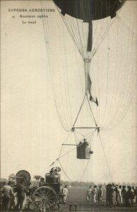 Pioneer Aviation Sapeurs Aerostiers Hot Air Balloon c1910 Postcard